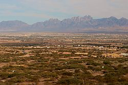 Views of Las Cruces from New Home sites