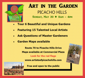ART IN THE GARDEN SUNDAY, MAY 20, 2018  11:00-4:00