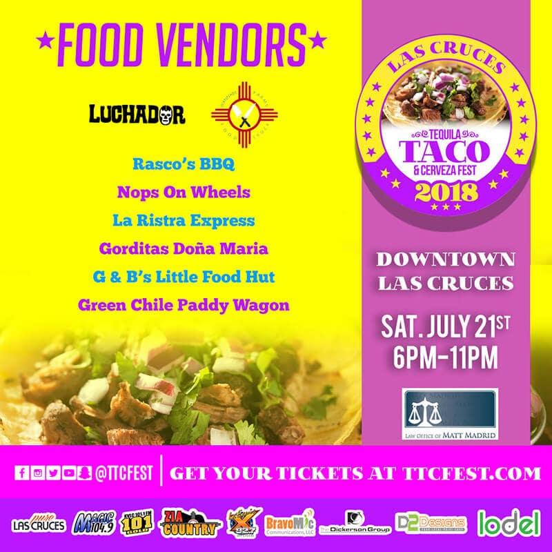 Las Cruces Tequila, Taco & Cerveza Fest 2018 Poster