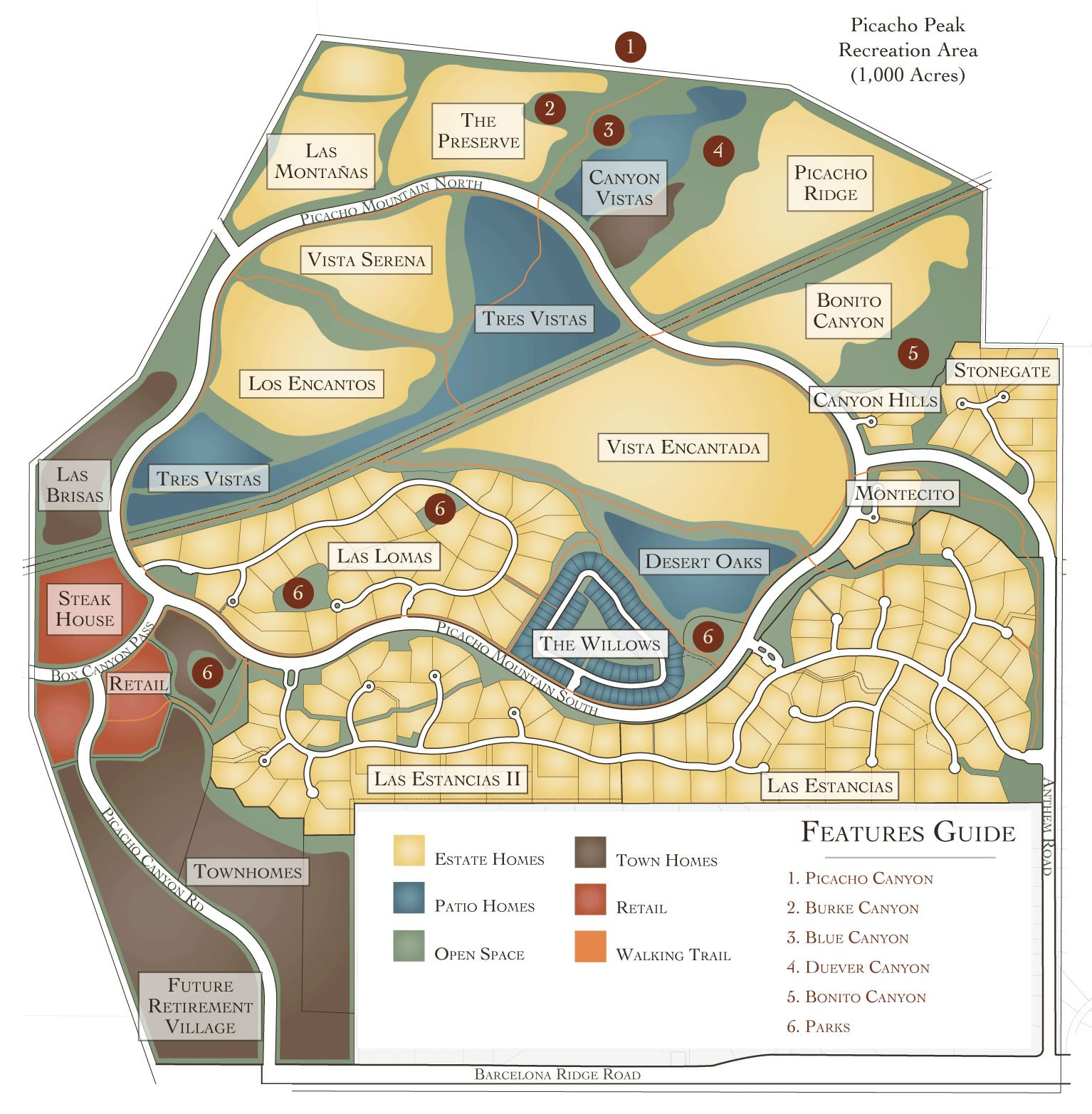 Master Plan Map Custom Homes