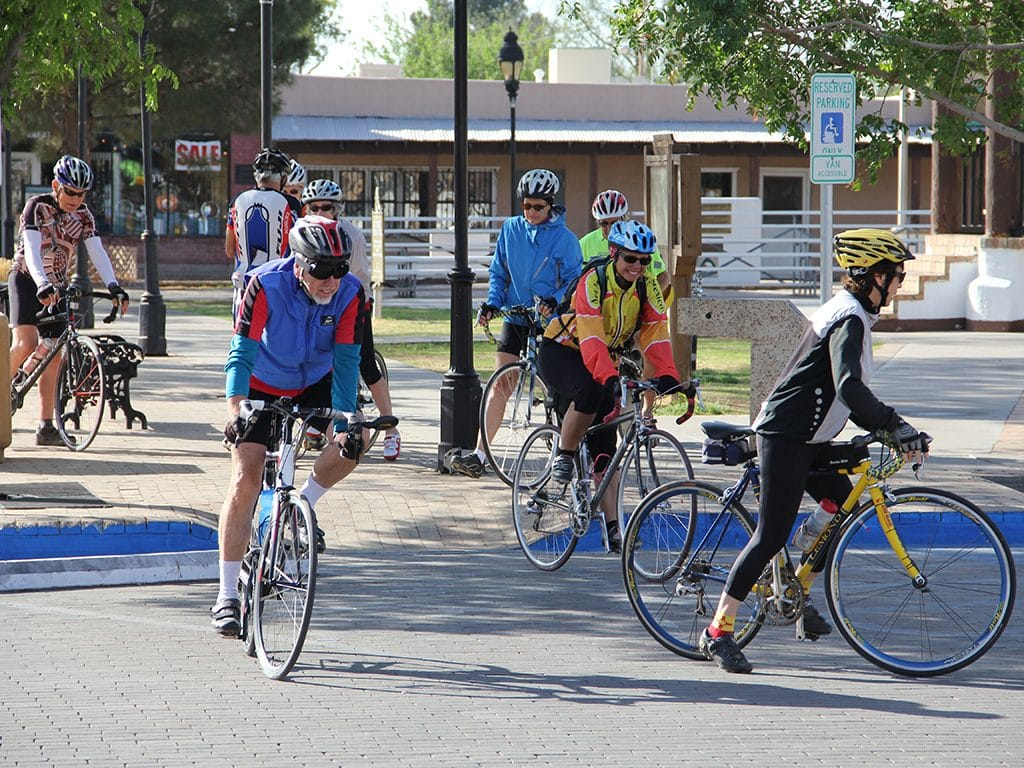 Cycling Club on Mesilla Plaza
