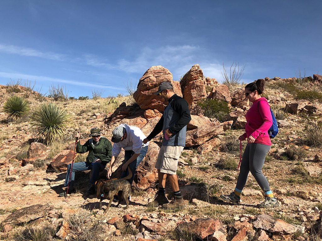 Picacho Peak hikers on Las Cruces Hiking Trails