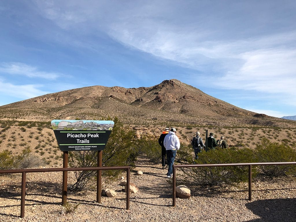 Picacho Peak Trail head Las Cruces Hiking Trails