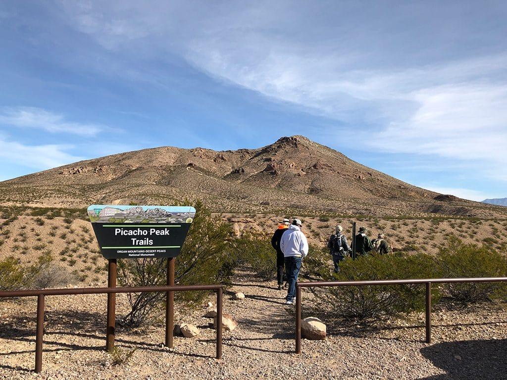 Picacho Peak Trail head Las Cruces Hiking Trails