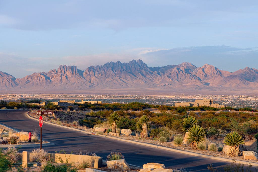 Picacho Mountain view of Organ Mountains