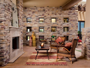 Outdoor Fireplace Custom Home Picacho Mountain