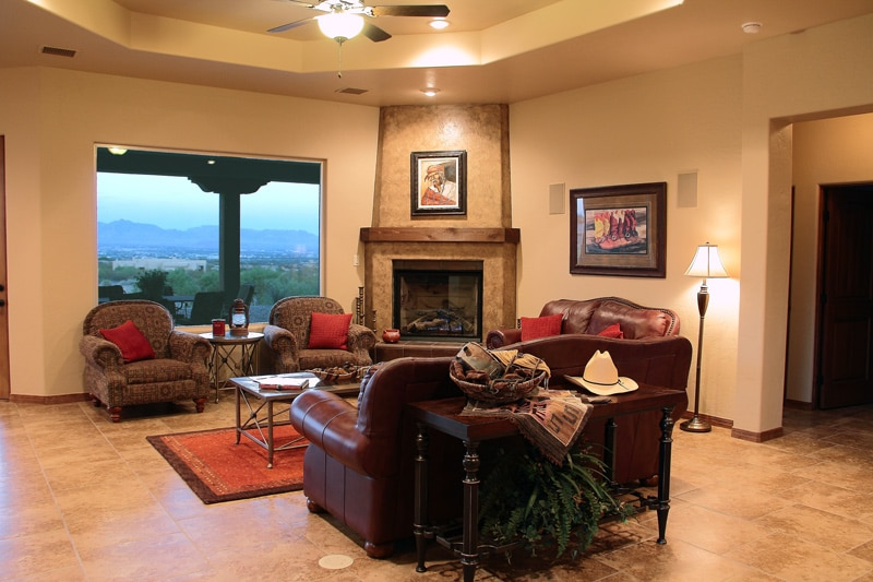 Living Room View of Organ Mountains
