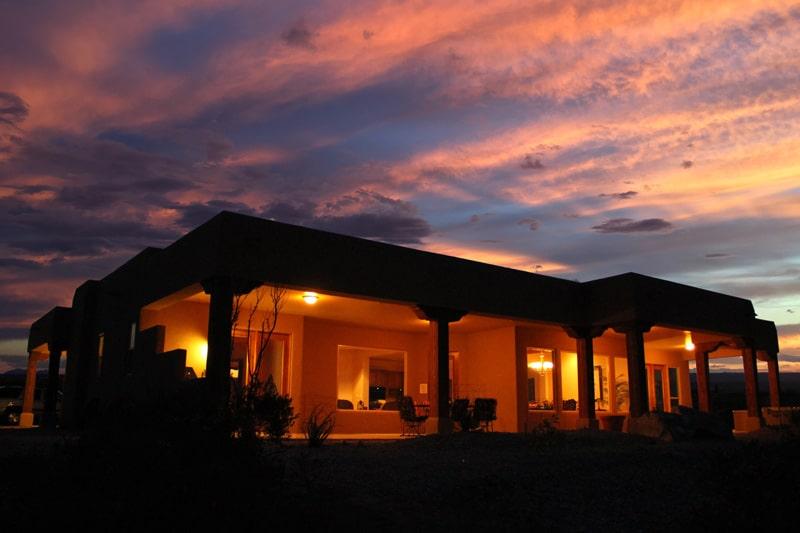 Estate Home at sunset